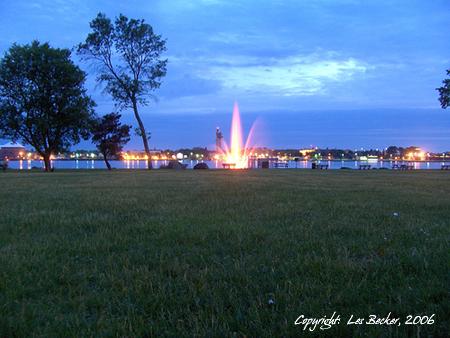 """""""Millenium Fountain"""" at Night,"""